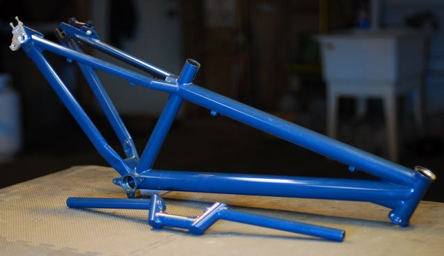 FX frame with bar blue