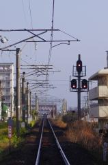ローカル電車と線路