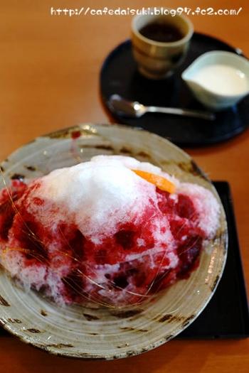 クラフトカフェ◇赤富士氷