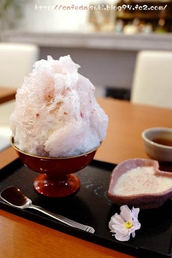 CRAFT CAFE◇桜のかき氷