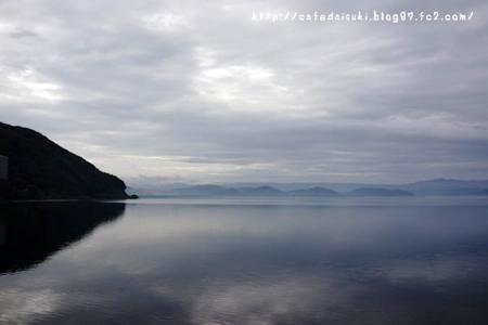 猪苗代湖。天気イマイチ~
