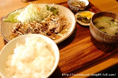 cafe narumari◇narumari風しょうが焼き定食