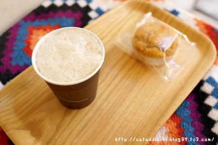 せたがや縁側cafe◇玄米甘酒ストレート&ぬかマフィン