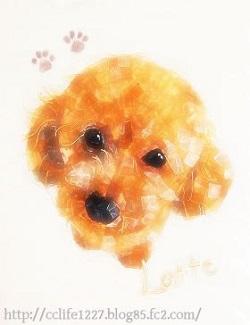 クリスタルコラージュ ペットの肖像画
