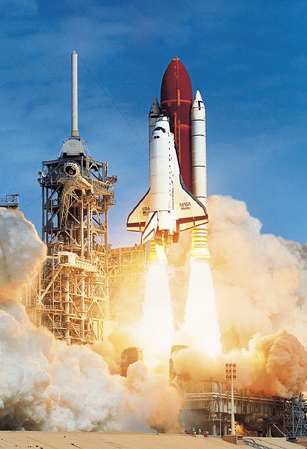 綺麗なスペースシャトル