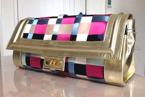 平織りハンドバッグ