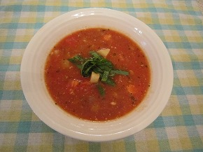 玉ネギおばさんのトマトマスープ