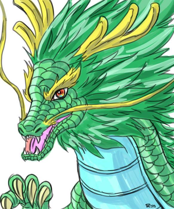 龍 緑 イラスト