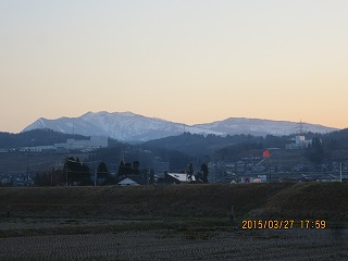 夕映えの牛岳