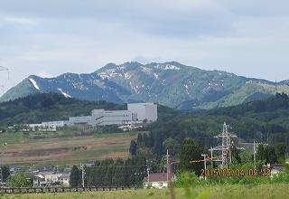 牛岳の稜線