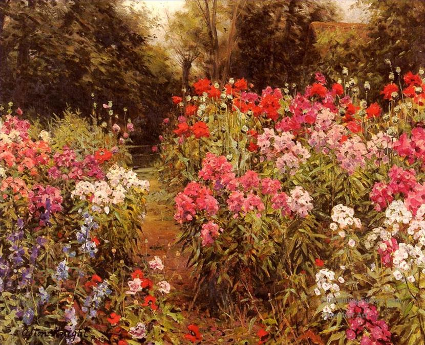 4-A-Flower-Garden-landscape-Louis-Aston-Knight.jpg