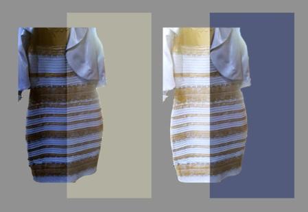 ドレスの色はどっち? 青×黒 vs 白×金