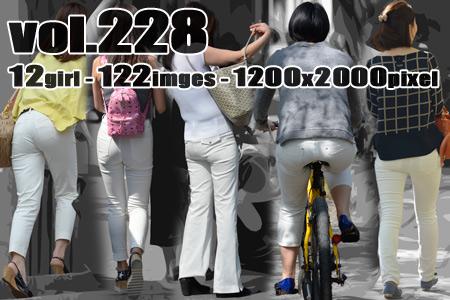 vol228-むち尻ぴちぴち食い込みホワイトパンツ