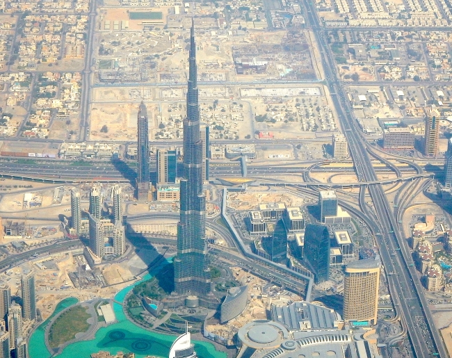 Burj Khalifa from the Air