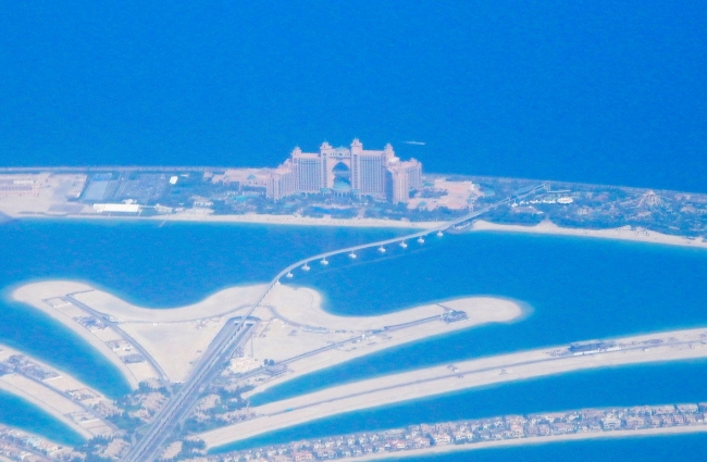 Dubai the Atlantis from the air