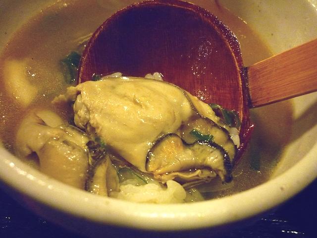牡蠣塩バターつけ麺のアフターリゾット