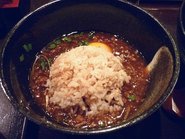 台湾とろみつけ麺の追い飯1