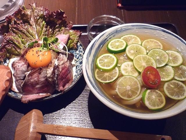 スダチひやかけ&ローストビーフ丼