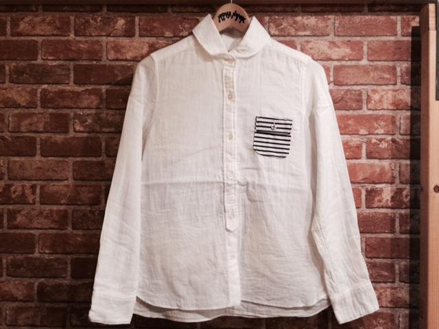 SF Wガーゼラウンドカラーシャツ1