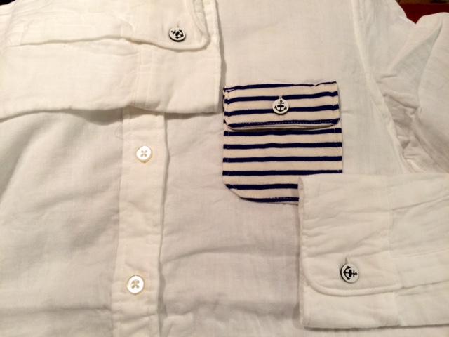 SF Wガーゼラウンドカラーシャツ2