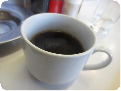 サービスのコーヒー