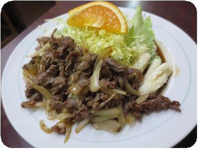 牛生姜焼き