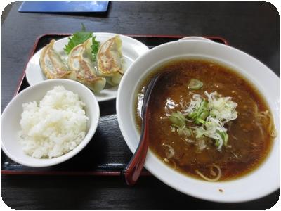 カレーラーメン&ミニライス+しそ餃子(3個)