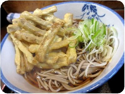 野菜天(ごぼう天)そば+ミニカレー