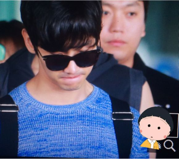 150531 Changmin at Incheon Airport (back to Korea)4