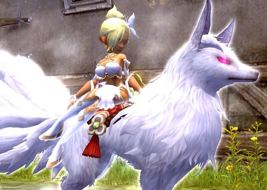 白狐と白いおどりこ