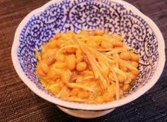 納豆と茗荷のオリーブオイル和え (350x257)