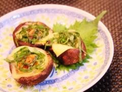 レンジで簡単☆しいたけの大葉味噌チーズ (350x265)