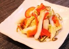 白菜とパプリカの即席漬け (350x246)