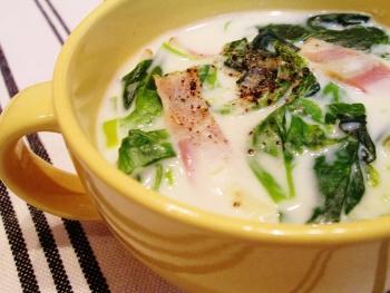 ほうれん草のお手軽クリームスープ☆簡単