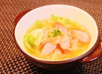 美味しぃ☆オニオンレタススープ!朝食にも (350x254)