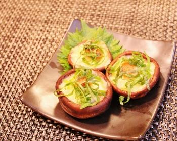 レンジで簡単☆しいたけの大葉味噌チーズ (350x279)