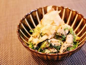 簡単❀ホウレン草と白菜の胡麻和え (350x264)