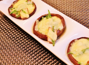 椎茸のネギチーズ焼き (350x258)
