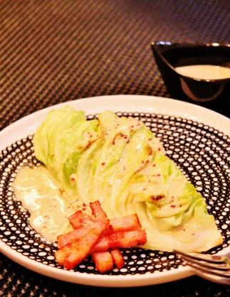 ✿春キャベツとベーコンのフライパン焼き✿ (323x418)