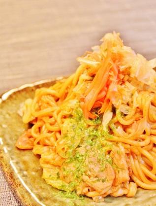 野菜いっぱい❀おたふくソース焼きそば❀ (317x418)