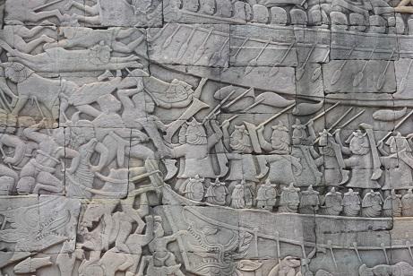 バイヨンレリーフ壁面