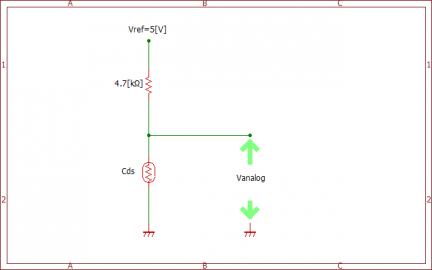 アナログ電圧入力の回路