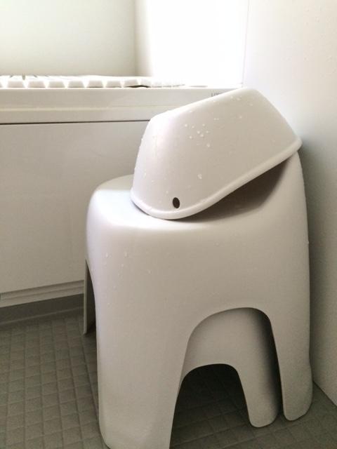 HAYUR ハユール バスチェア お風呂のイス 洗面器 シンプル 無印良品
