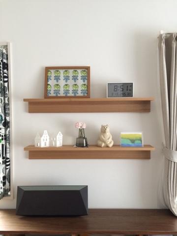無印良品 壁に付けられる家具・棚 88cm リビング飾り棚ディスプレイ