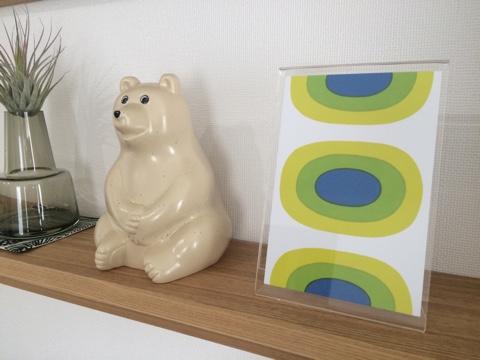 無印良品週間 壁に付けられる家具・棚 リビング飾り棚ディスプレイ マリメッコポストカード
