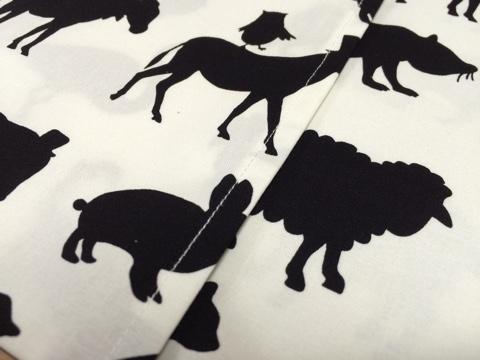 ネスホーム 北欧風ファブリック 北欧モダン 動物柄 モノトーン クッションカバー 手作り ハンドメイド