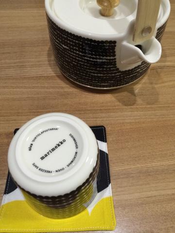 マリメッコ (marimekko) コーヒーカップ 200ml 取っ手なし Siirtolapuutarha (市民菜園/Rasymatto) ラテマグ  ティーポット 700ml お買い物マラソン