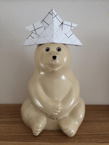 MK Tresmer(エムケー トレスマー) Polar Bear Money Box ポーラーベア シロクマ 白くま 折り紙 おりがみ かぶと 兜 五月飾り 子供の日