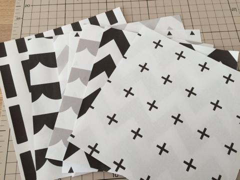 モノトーン ラッピングペーパー 折り紙