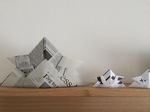 無印良品 良品週間 壁に付けられる家具・棚 リビング ディスプレイ 飾り棚 子供の日 こどもの日 五月飾り モノトーン 北欧 手作り雑貨 折り紙 おりがみ 英字新聞 兜 カブト